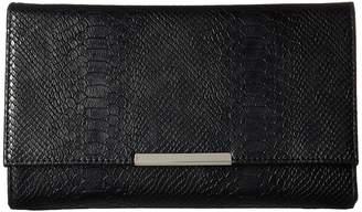 Jessica McClintock Nora Metallic Snake Large Envelope Clutch Clutch Handbags