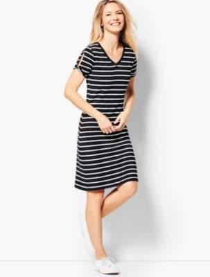 Talbots Drapey Knit Stripe Dress