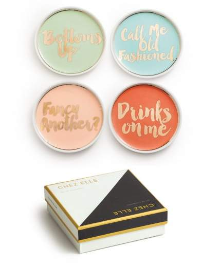 Cocktail Party Coasters (SET OF 4)