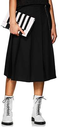 Marc Jacobs Women's Wool Pleated A-Line Skirt