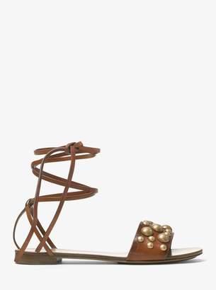 Michael Kors Mica Studded Leather Sandal