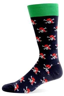 Hot Sox Pirate Skulls Graphic Socks