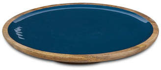 GG Collection G G Collection Deep Blue Wood & Enamel Platter