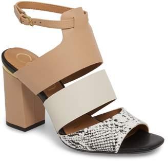 Calvin Klein Caran Block Heel Sandal