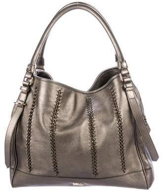 Burberry Whipstitch & Chain-Embellished Canterbury Tote
