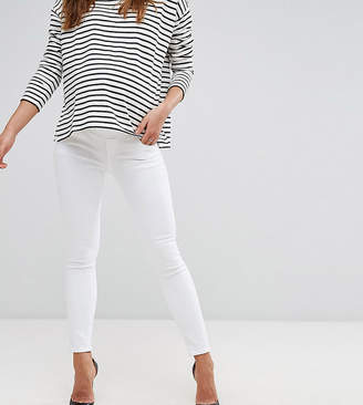 Asos (エイソス) - Asos Maternity ASOS DESIGN Maternity Ridley skinny jeans in white with under the bump waistband