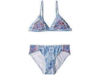 Seafolly Boho Tile Trikini Set (Little Kids/Big Kids)