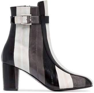 Sabrina Newbark 75 Striped Ankle Boots
