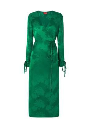 Kitri Odile Green Wrap Dress