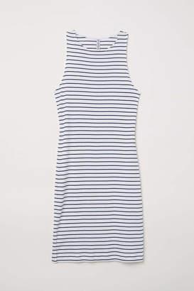 H&M Sleeveless Jersey Dress - White/striped - Women