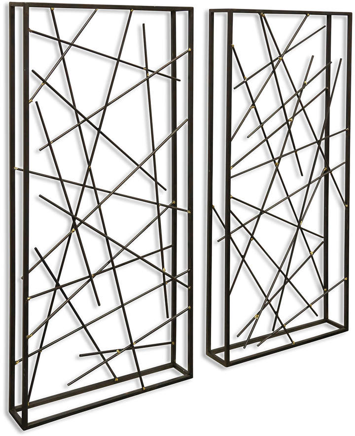 Contemporary Lines Metal Wall Sculptures Set of 2