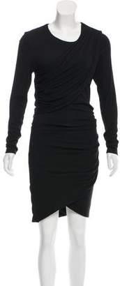 Torn By Ronny Kobo Rib Knit Drape-Accented Dress