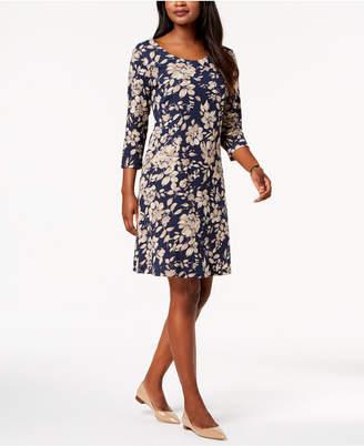 Karen Scott Printed Swing Dress, Created for Macy's