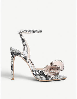 Sophia Webster Soleil snake-effect leather heeled sandals