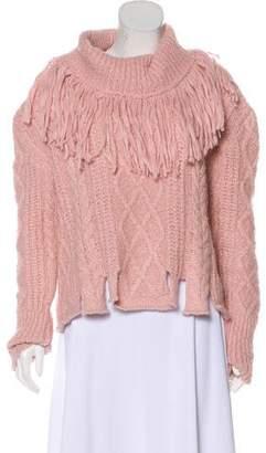 Philosophy di Lorenzo Serafini Alpaca Fringe-Trimmed Sweater w/ Tags