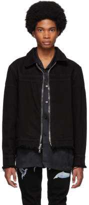 Nahmias Black Denim Double Zip Jacket