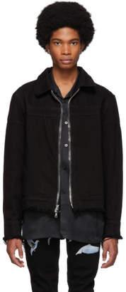 Nahmias Black Denim Double Zip Jacket