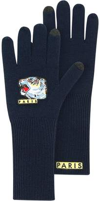 Kenzo Iconic Tiger Long Wool Gloves