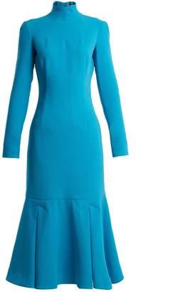 Emilia Wickstead Prudence high-neck double-crepe dress