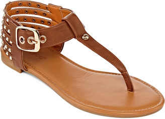 Bamboo Candice Studded Thong Sandals $50 thestylecure.com