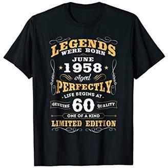 Legends Were Born in June 1958 60th Birthday Gift Shirt