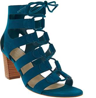 Marc Fisher Suede Lace-up Block Heel Sandals - Paradox