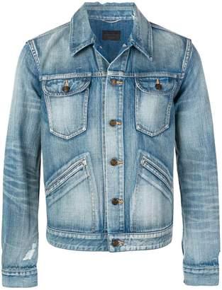 Saint Laurent fitted denim jacket