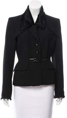 Barbara Bui Belt-Accented Button-Up Jacket