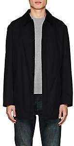 Barneys New York MEN'S COTTON TRENCH COAT-BLACK SIZE XXL