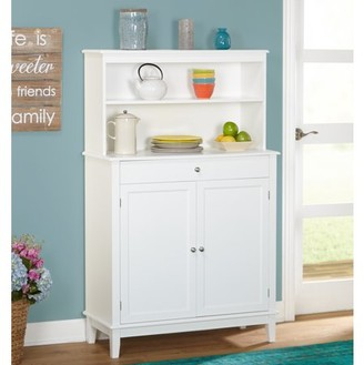 Simple Living Farmhouse Buffet and Hutch, White
