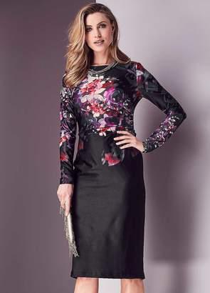 Kaleidoscope Floral Placement Jersey Dress