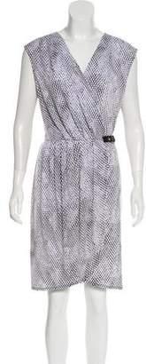 MICHAEL Michael Kors Surplice Neck Sleeveless Dress