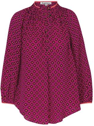 Libelula Hartford Top Hot Pink Explosion Print