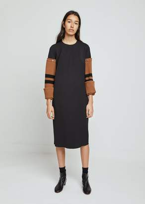 Hache Removable Wool Sleeve Dress