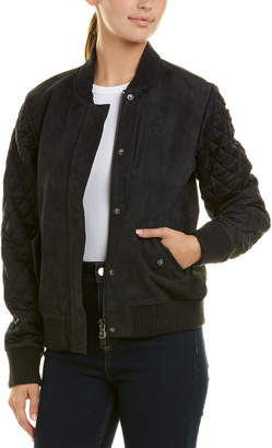 Michael Stars Suede Bomber Jacket