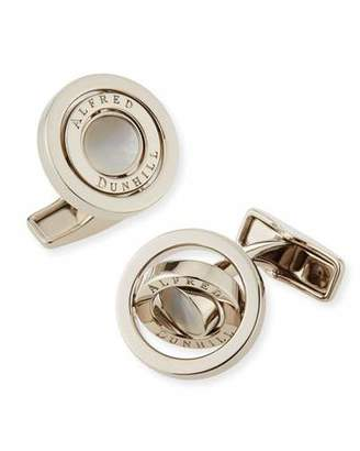 Dunhill Gyro Cuff Links with Mother of Pearl
