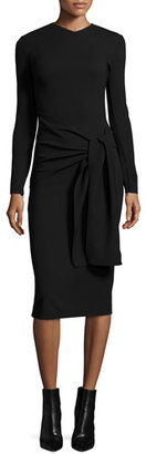 Ralph Lauren Collection Long-Sleeve Tie-Waist Sheath Dress, Black $1,790 thestylecure.com