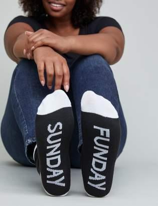Graphic Crew Socks - Sunday Funday