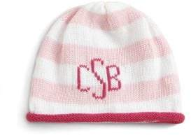 MJK Knits Baby's& Toddler's Personalized Striped Cotton Beanie