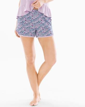 Cool Nights Pajama Shorts Bellissimo Ditsy Orchid