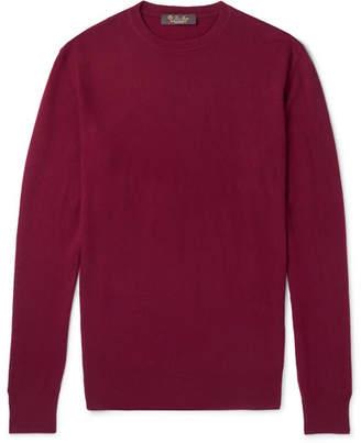 Loro Piana Slim-Fit Baby Cashmere Sweater - Men - Burgundy