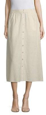 Eileen Fisher Button-Front Midi Skirt