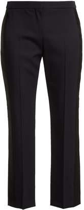 Alexander McQueen Side-striped wool cropped trousers