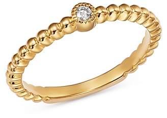 Moon & Meadow Caviar Bead & Diamond Ring in 14K Yellow Gold, 0.04 ct. t.w. - 100% Exclusive