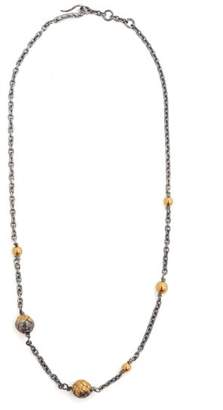 Bottega Veneta - Dichotomy Intrecciato Drop Necklace - Womens - Gold