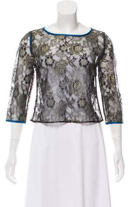 By Malene Birger Lace Long Sleeve Top