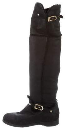 Jimmy Choo Shearling-Lined Over-The-Knee Boots