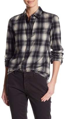 Vince Flannel Tartan Plaid Oversized Shirt