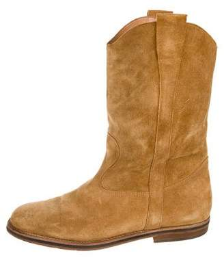 Maison Margiela Suede Semi-Point-Toe Boots