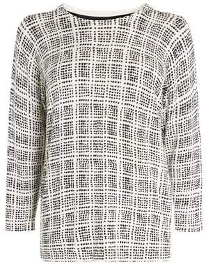 Next Womens Black Printed Sweater